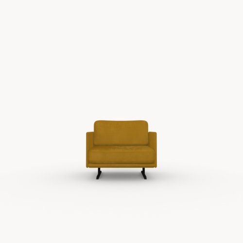 Modulo lounge chair 1 zits royal gold132 | Studio HENK | Listing_image