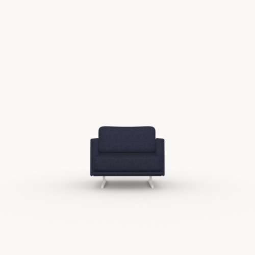 Modulo lounge chair 1 zits facet navy1007 | Studio HENK | Listing_image