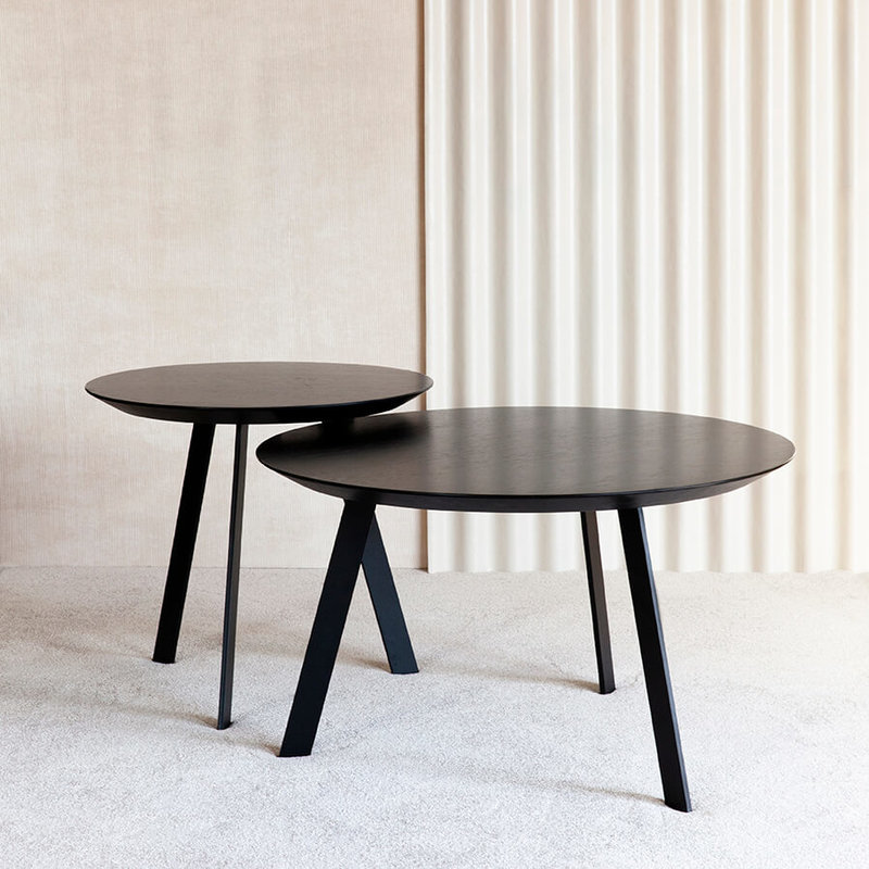 Salontafel Design On Stock.New Co Coffee Table 70 Round Black Oak Black Lacquer 9005 Round